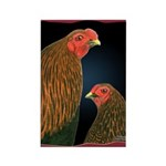 Chantecler Rooster and Hen Rectangle Magnet