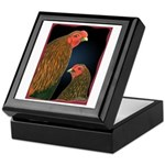 Chantecler Rooster and Hen Keepsake Box