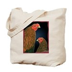 Chantecler Rooster and Hen Tote Bag