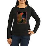 Chantecler Rooster and Hen Women's Long Sleeve Dar