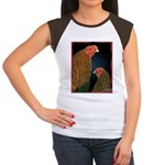 Chantecler Rooster and Hen Women's Cap Sleeve T-Sh
