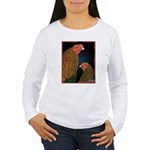 Chantecler Rooster and Hen Women's Long Sleeve T-S