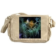 Dolphin in the universe Messenger Bag
