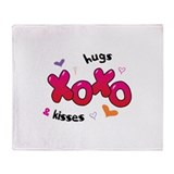 Hugs and kisses Fleece Blankets