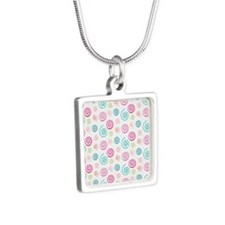 Cute Colorful Swirls Pattern Necklaces