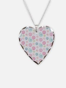 Cute Colorful Swirls Pattern Necklace