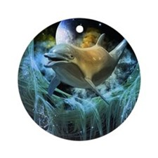 Dolphin in the universe Ornament (Round)