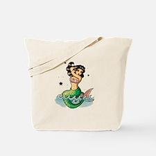 Old School Mermaid Tote Bag
