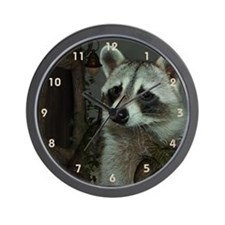 Raccoon Portrait Wall Clock