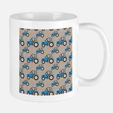 Blue Tractor Pattern Mugs