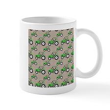 Green Tractor Pattern Mugs
