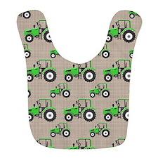 Green Tractor Pattern Bib