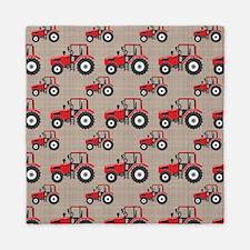 Red Tractor Pattern Queen Duvet