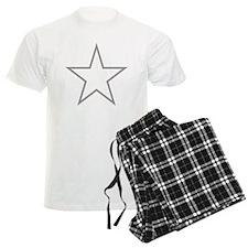 Grey Star Outline Pajamas