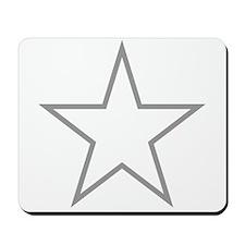 Grey Star Outline Mousepad