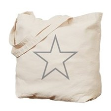 Grey Star Outline Tote Bag