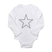 Grey Star Outline Body Suit