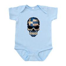 Greek Flag Skull Body Suit