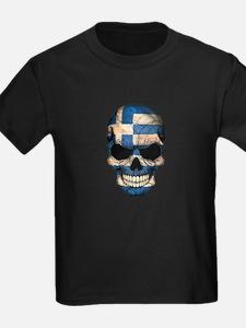 Greek Flag Skull T-Shirt