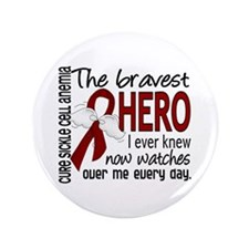 """Sickle Cell Anemia BravestHero1 3.5"""" Button"""