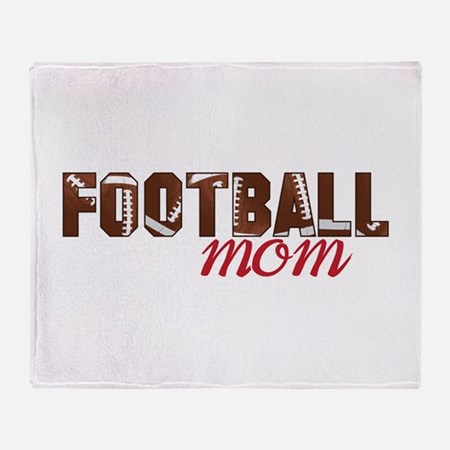 Foot Ball Mom Throw Blanket