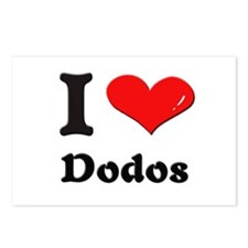 I love dodos  Postcards (Package of 8)