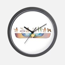 Karelian Hieroglyphs Wall Clock