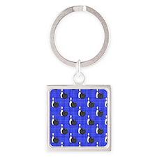 Royal Blue Bowling Ball Pattern Keychains