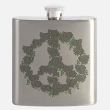 Black Peace Roses Flask
