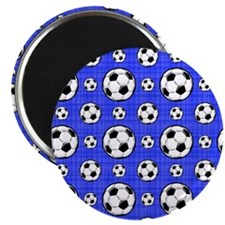 Royal Blue Soccer Ball Pattern Magnets