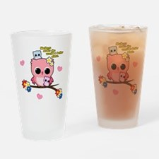 Owl Mothers Drinking Glass