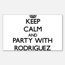 Keep calm and Party with Rodriguez Decal