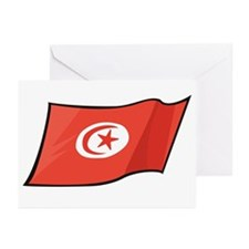 Tunisian Flag Greeting Cards (Pk of 10)