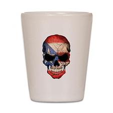 Puerto Rico Flag Skull Shot Glass