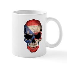 Puerto Rico Flag Skull Mugs