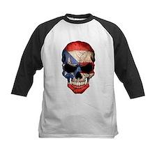 Puerto Rico Flag Skull Baseball Jersey
