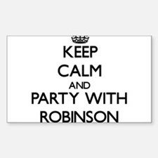 Keep calm and Party with Robinson Decal