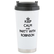 Keep calm and Party with Robinson Travel Mug