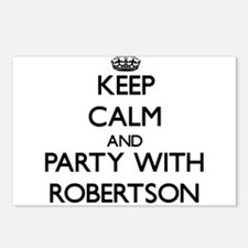 Keep calm and Party with Robertson Postcards (Pack