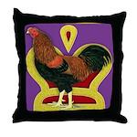King Chantecler Throw Pillow