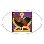King Chantecler Oval Sticker