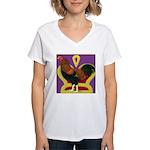 King Chantecler Women's V-Neck T-Shirt