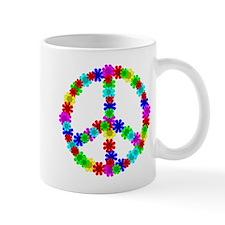 1960's Hippie Flowers Peace Mug