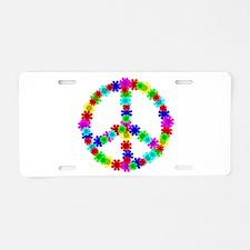 1960's Hippie Flowers Peace Aluminum License Plate