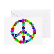 1960's Hippie Flowers Peace Greeting Card
