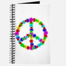 1960's Hippie Flowers Peace Journal