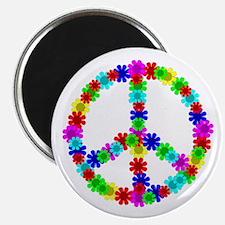 1960's Hippie Flowers Peace Magnet