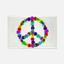 1960's Hippie Flowers Rectangle Magnet (100 pack)