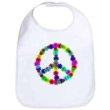 1960's Hippie Flowers Peace Bib