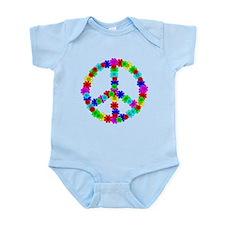 1960's Hippie Flowers Peace Infant Bodysuit